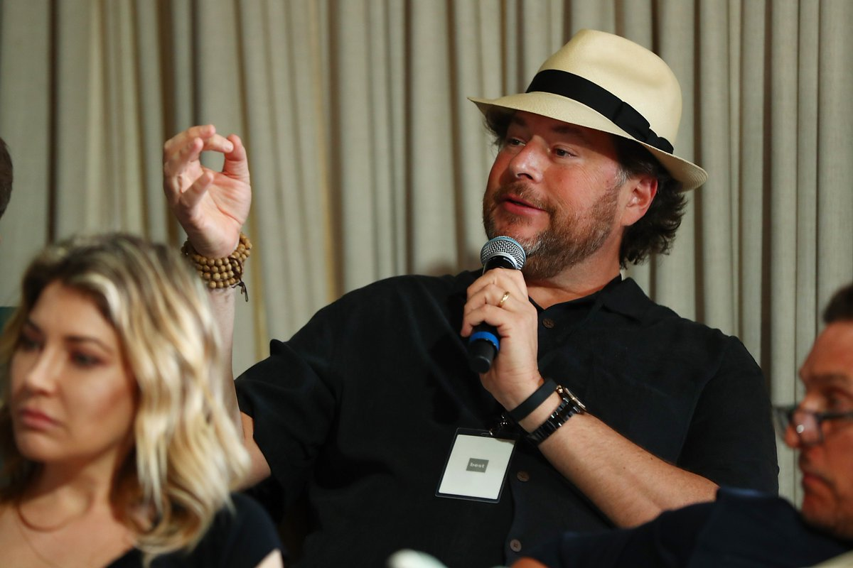 Marc @Benioff + @salesforce were amazing partners. Thanks for helping us make this happen.  #PerfectPitch