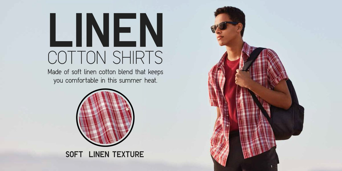 df5ea7c28a5 Try our soft Linen Cotton Short Sleeve Shirts today and make it your summer  wardrobe staple! See the styles here  http   s.uniqlo.com 2pbwhYz ...