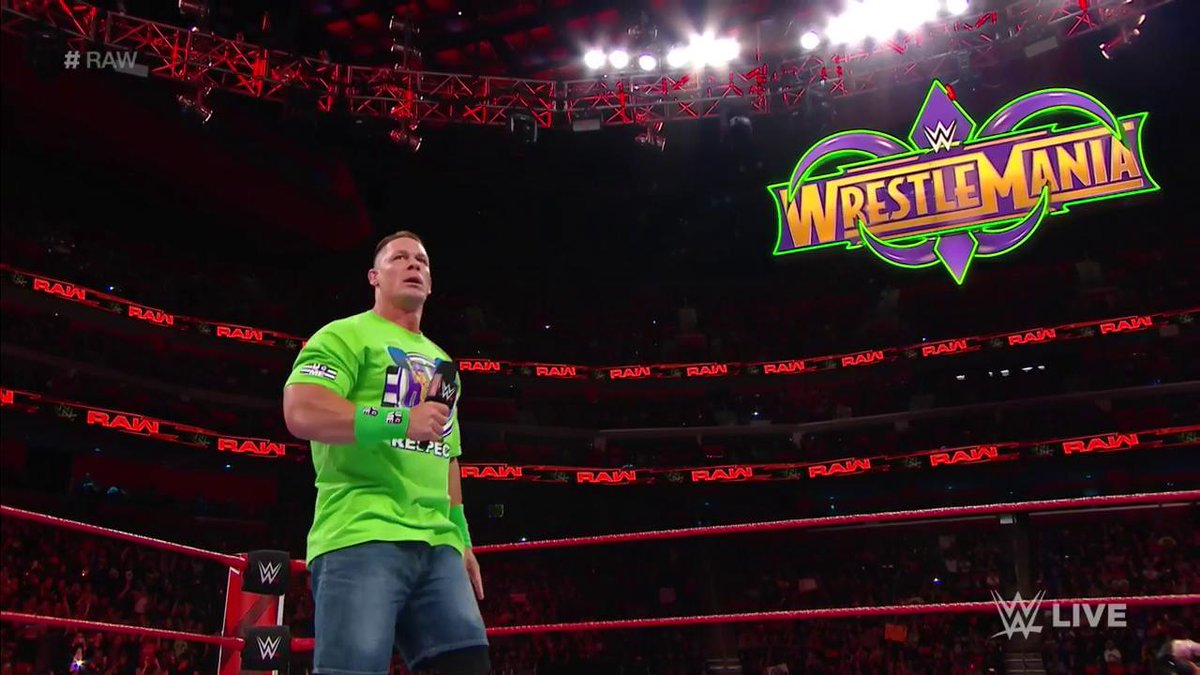 DYIWNHvU8AAg8zc - John Cena challenges The Undertaker for a match at WrestleMania 34