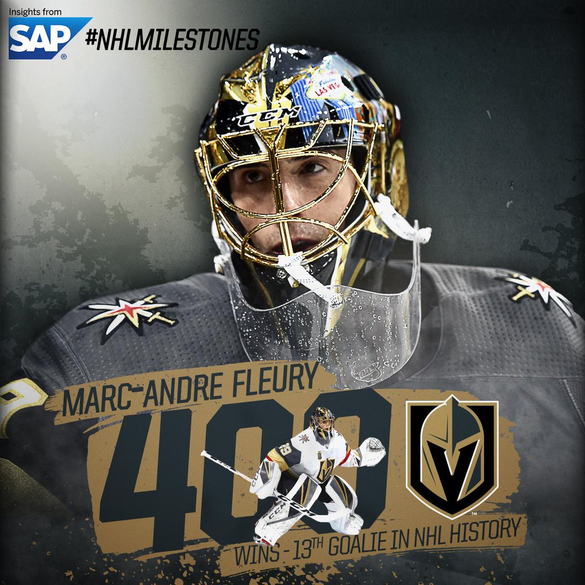 Aint no better Flower out there. 400 wins for Marc-Andre Fleury. Congrats on an unreal milestone! #NHLMilestones via @SAPSports: atnhl.com/2FA0bLX