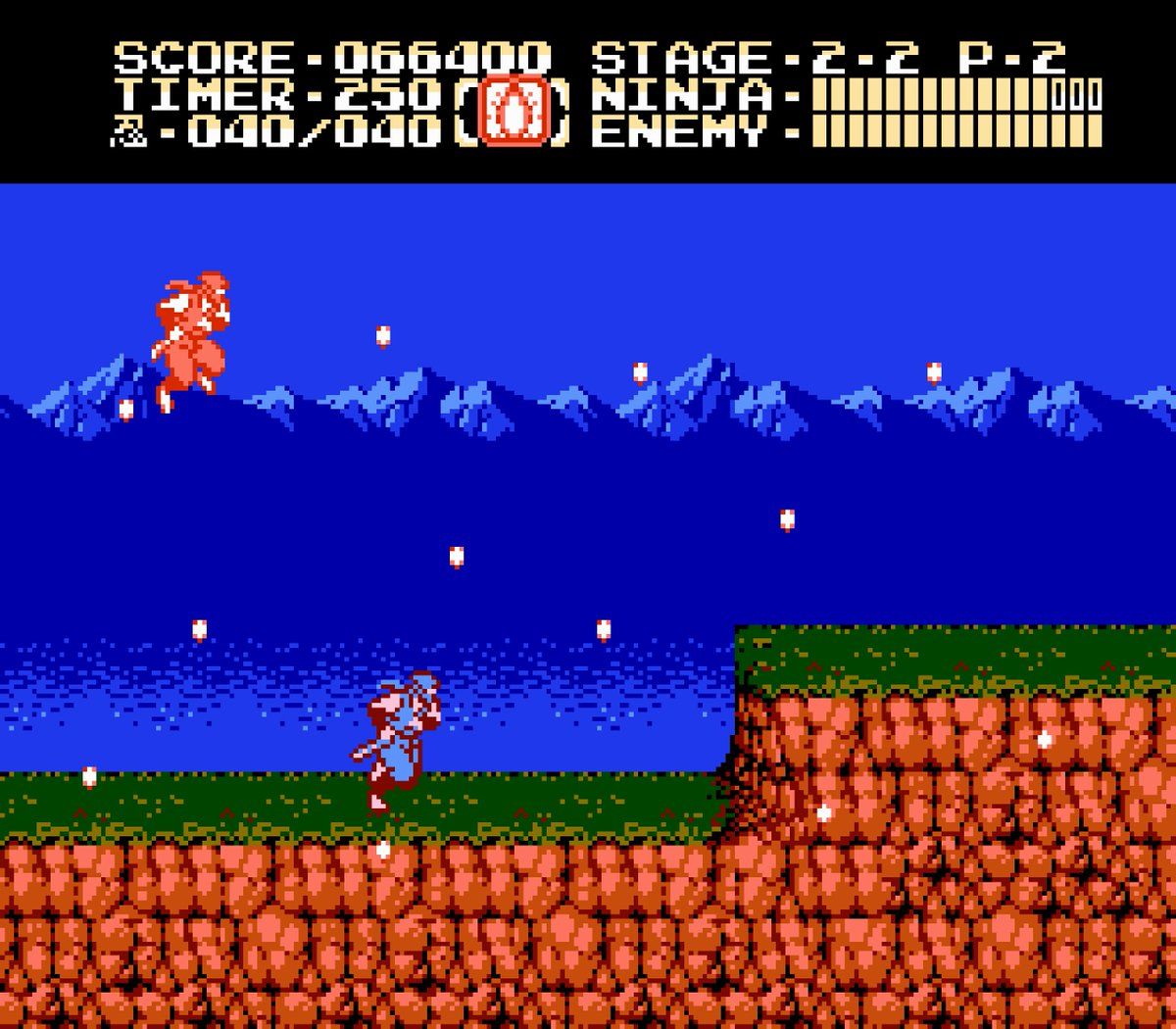 Loren Schmidt On Twitter Here S Another Which Caught My Eye Recently This Stone Earth Tile From The Second Ninja Gaiden 1990 This Is Nes Spec So 4 Colors Per Background Tile