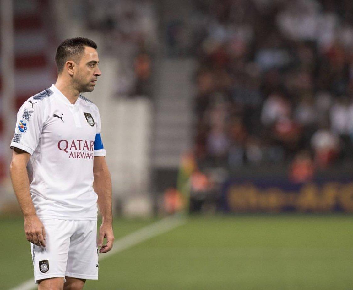 Welcome back capitano #Xavi 💪🏼😍⚫️⚪️ #تشا...