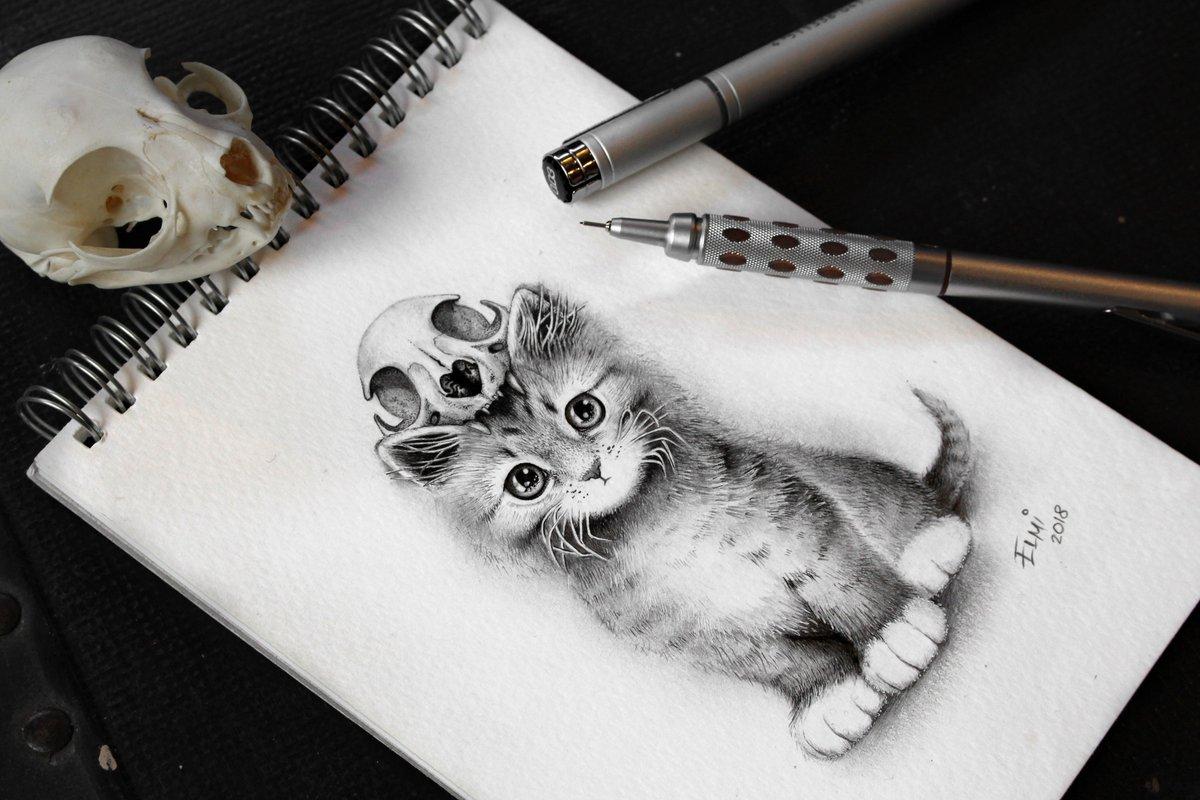 Elmi Terjavjainen On Twitter Commission Work Goth Kitten In