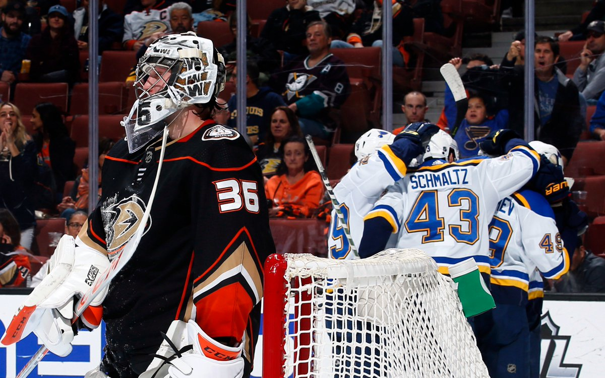Fresh off a seven-goal outing, four different players scored to lead the @StLouisBlues to victory and snap Anaheims nine-game home point streak (7-0-2). #STLvsANA