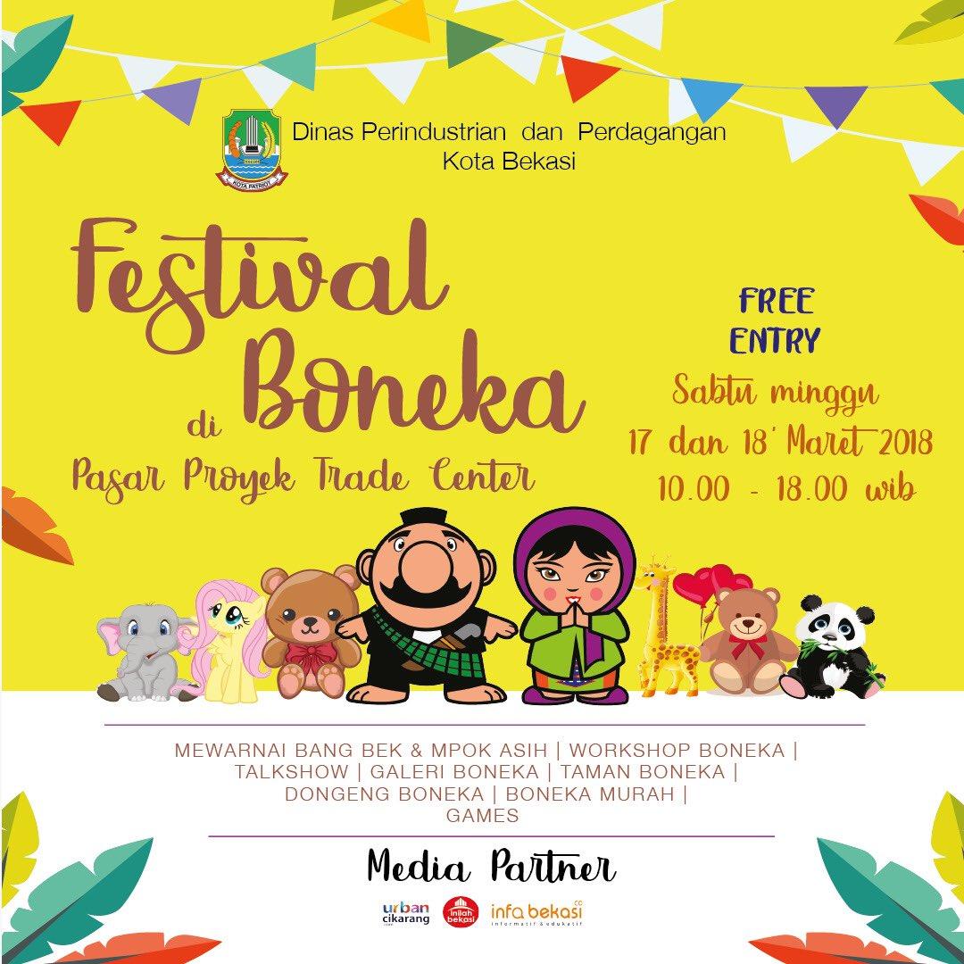 Kota Bekasi On Twitter Hadirilah Festival Boneka Di Pasar Proyek