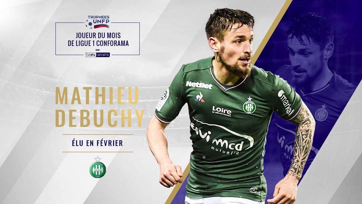 [#TropheesUNFP🏆] OFFICIEL !  Mathieu Debuchy est élu joueur du mois de Février de Ligue 1🇫🇷