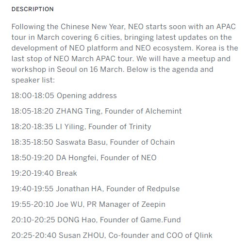 Today is the day! Don't miss the last stop of #NEO APAC tour in Seoul! CEO Jonathan Ha will present and speak at 19:40-19:55 (KST). #서울 #밋업 #Smarteconomy