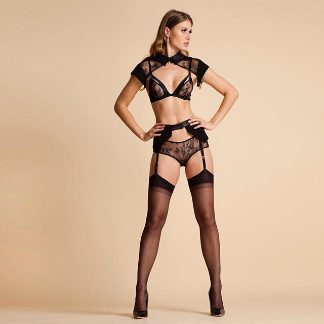 97d903f0f Featuring the Josephine leather collar and Talia leather pocket belt  suspender - shop link in bio  signaturestyle  luxurylingerie  leather   luxury  fashion ...