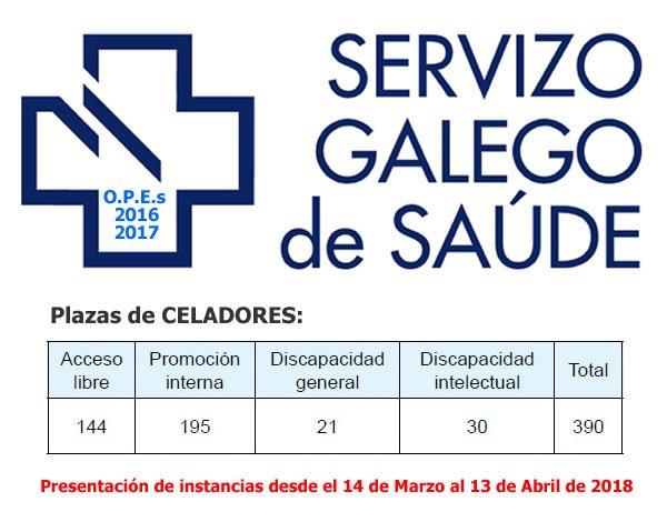 CONVOCATORÍA DE 390 PLAZAS DE CELADOR PARA EL SERVICIO GALLEGO DE SALUD DYKief3WsAAvj4l