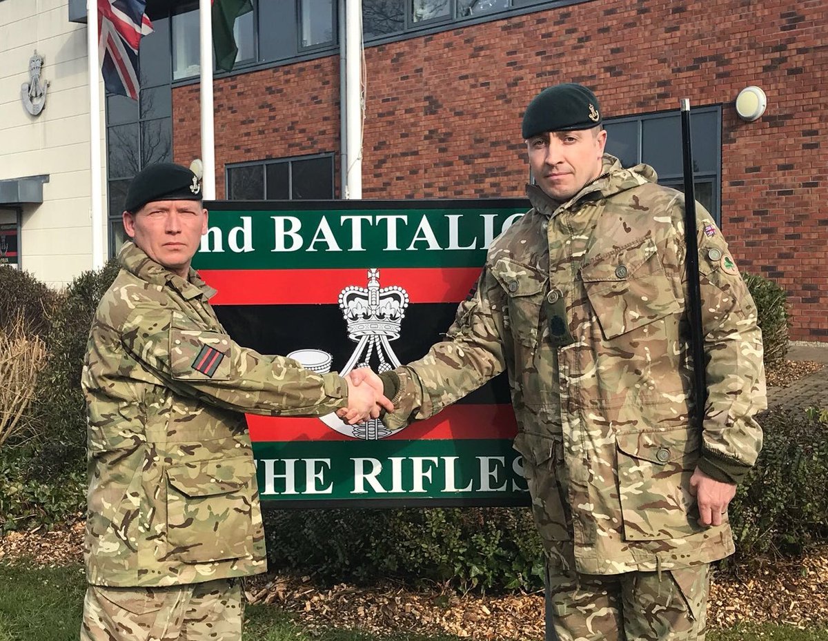 In Camp And On Operations Over The Last 2 Years Wish Him Best Of Luck Swiftandbold RiflesRegiment Rifles Comd SMpictwitter B7m75C1ctB