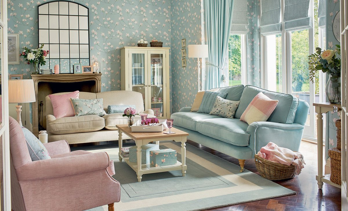Laura ashley lauraashleyuk twitter - Grey and duck egg blue living room ideas ...