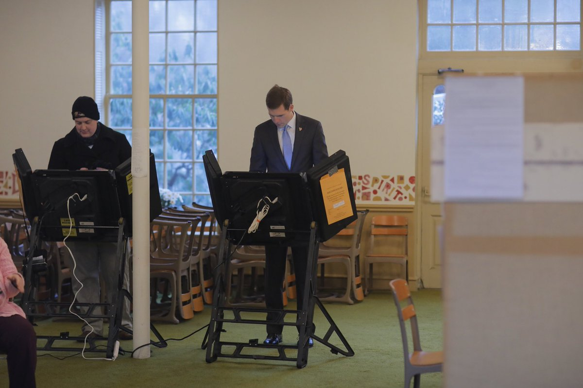 Conor Lamb voting this morning in #PA18....