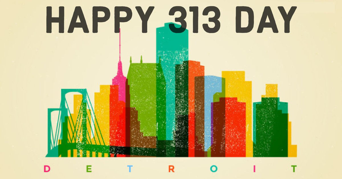 Celebrating Detroit a little extra today...