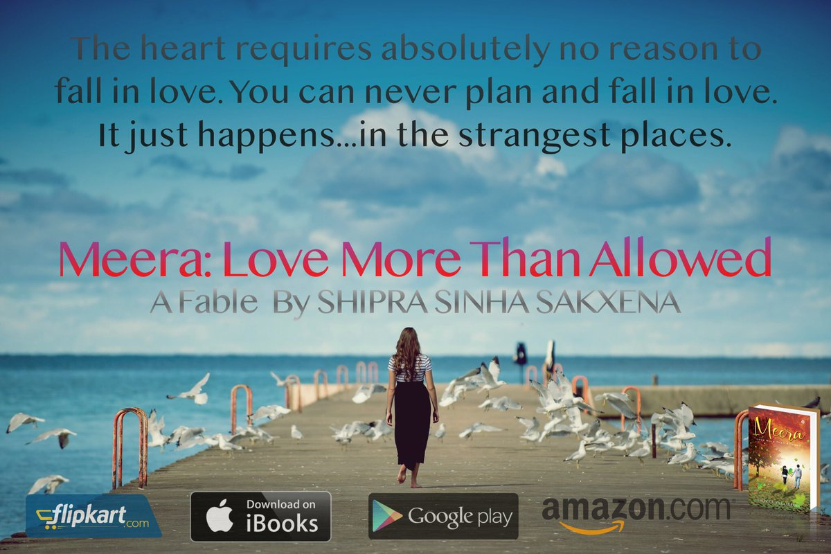 Meera: Love More Than Allowed available on @amazonIN @Flipkart @iBooks @AmazonKindle @GooglePlay #newbook #booklovers #booklaunch #bookquotes #bookquoteoftheday #lovequotes #romancebooks #romancenovel #relationshipgoals #fiction #novel #newarrivals #bookreview #bookrelease<br>http://pic.twitter.com/9IW0rMF2nN