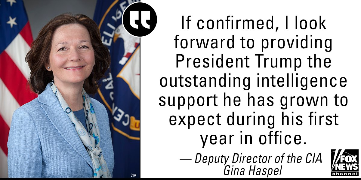 CIA Deputy Director Gina Haspel released a statement on President 's plan to pick her to head the CIA. https://t.co/62hTmMDelb