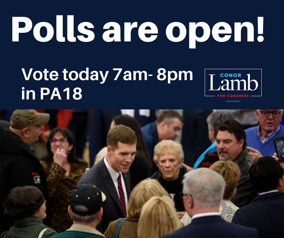 Every vote counts. Polls are open until...