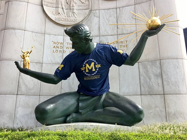 Detroit was home to @UMich when we were founded in 1817. #Happy313Day, Big D!