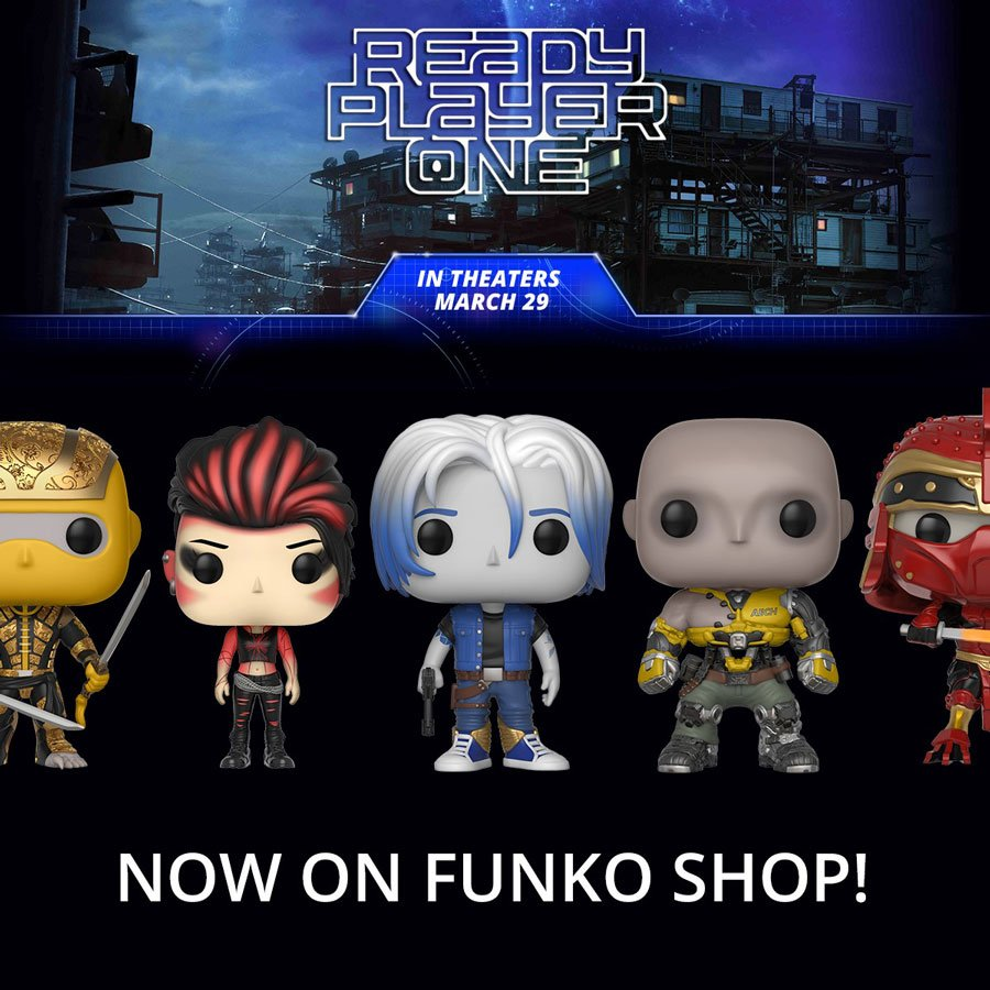 You can now find Ready Player One figures on Funko Shop! bit.ly/2HwaMYS