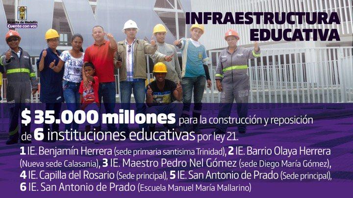 $35.000 millones para infraestructura ed...