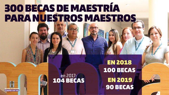 300 becas de maestría para nuestros Maes...