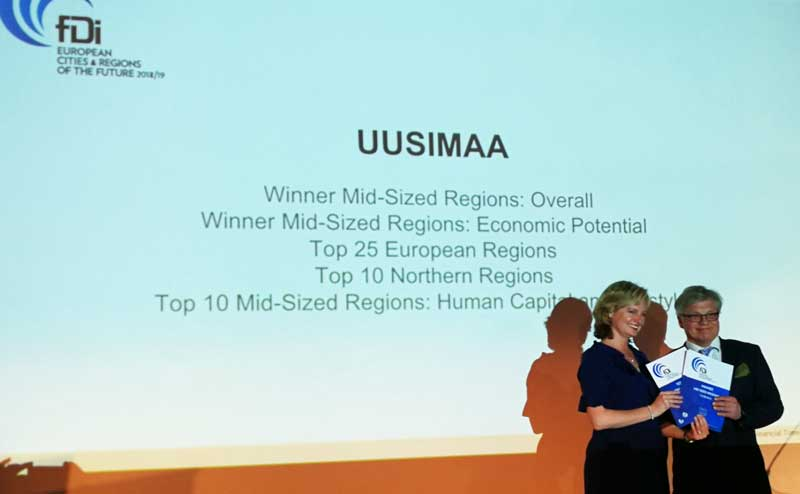 Thank you!Helsinki-Uusimaa region awarded Winner of mid-sized European regions in investment overall destination and also economic potential categories.  #FDI !helsinki #Finland #MIPIM