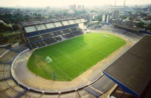 View over Stamford Bridge 1980s #Chelsea #CFC