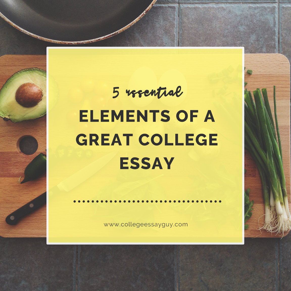 Take a look at this excellent essay that illustrates five essential principles of good essay writing. Note how the writer incorporates a wide range of details and images through one particular lens: a scrapbook. goo.gl/n381PR