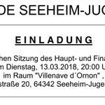 Heute 20 Uhr tagt der Haupt- & Finanzausschuss #Seeheim-#Jugenheim. Neben Vortrag zu wiederkehrenden Straßenbeiträgen geht es u.a. um Geopark Vor-Ort-Begleiter, sozialgerechte Bodennutzung sowie Über- & außerplanmäßige Aufwendungen & Auszahlungen  https://t.co/AVPFHEyIGo #GeVerSJ