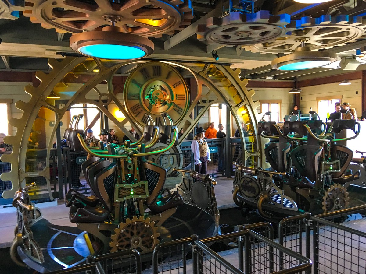 #Steampunk Awesome of the Day: $26 million, record-breaking 'Time Traveler' roller coaster at @SDCAttractions via @ThemeParkReview #SamaCuriosities