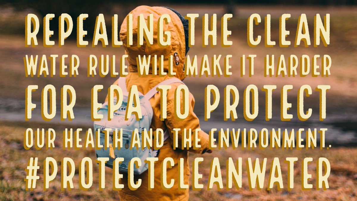 Why is Congress making it easier for Pruitt to ignore science, health, environment &amp; the law with the #DirtyWaterRider?  #ProtectCleanWater<br>http://pic.twitter.com/SnnZHVB7rz