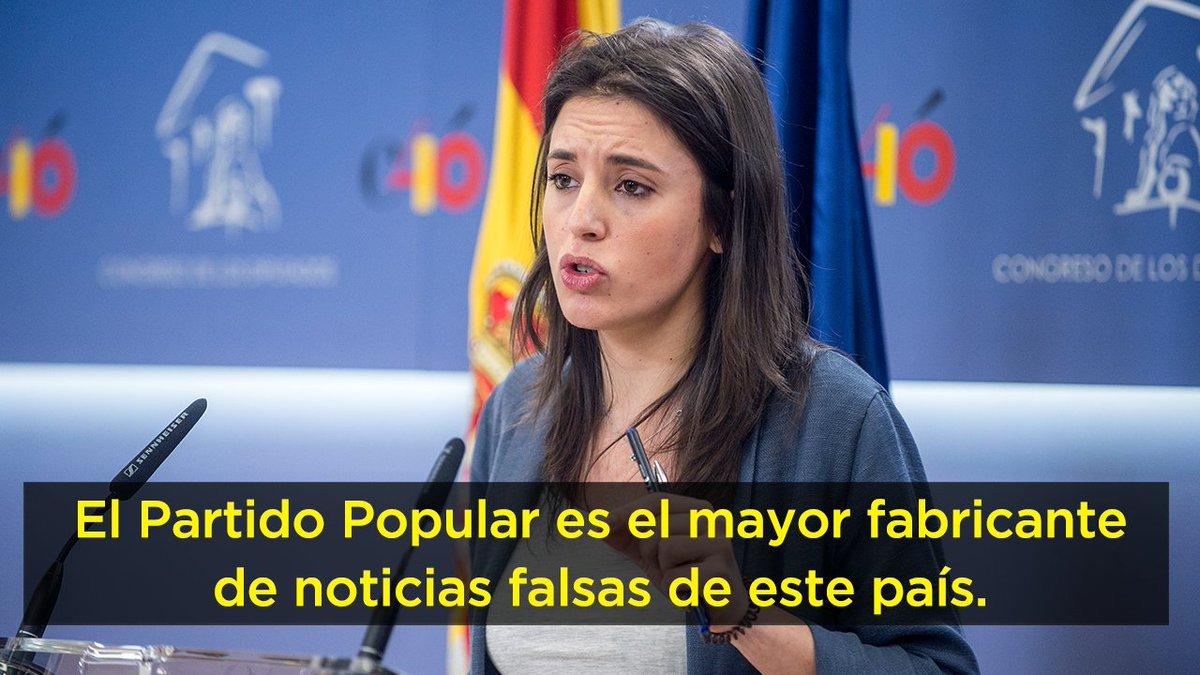 Irene Montero's photo on #MinisterioDeLaVerdad