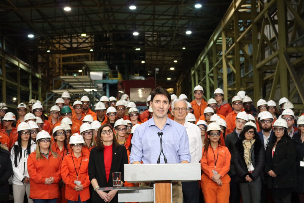 45cf82cd5c1 Wonderful to welcome  JustinTrudeau today to  hamont to showcase the heart  of  Canada s steel industry.pic.twitter.com 0Hn72zeQha