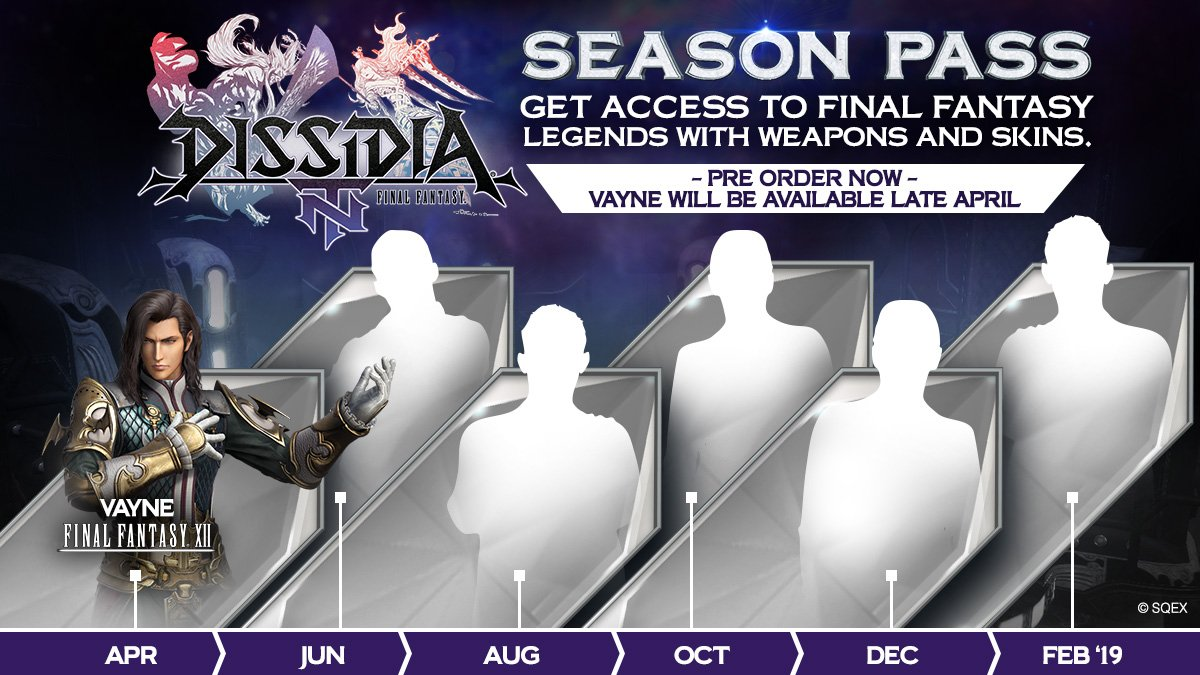 ICYMI: Vayne from FINAL FANTASY XII enters the legendary lineup of villains in late April for DISSIDIA FINAL FANTASY NT. Guess which villain is next? Guarantee all six new characters by getting the #DissidiaFFNT season pass! ➡️ sqex.to/6b_  #FFXII