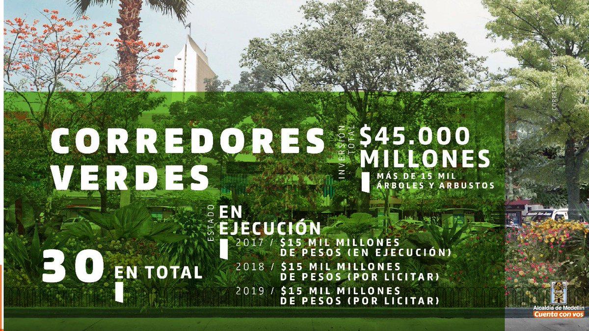 Medellín reverdece. Con los Corredores V...