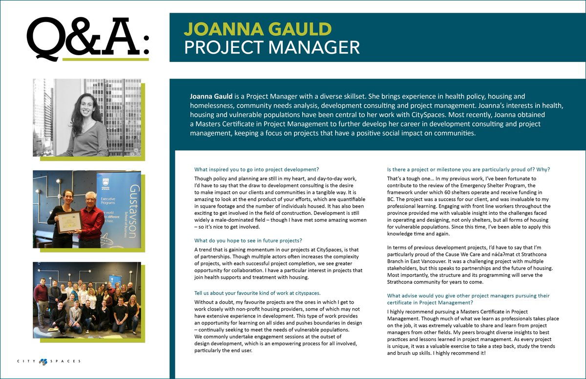 Cityspaces cityspaces twitter congratulations to cityspacer joanna gauld who obtained her masters certificate in project management learn more about joannas development projects and 1betcityfo Gallery