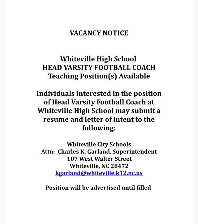 Deana King On Twitter Whiteville Nc Hs Head Varsity Football