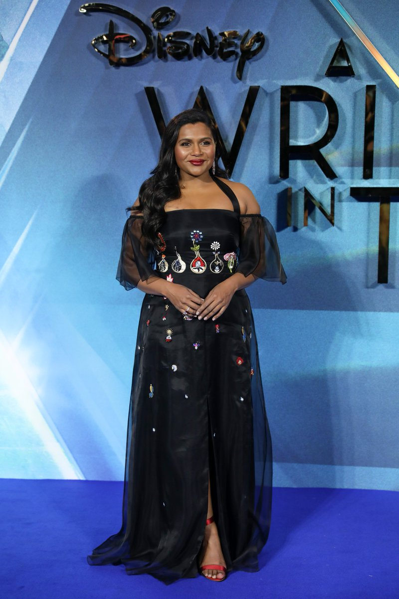 Mrs Who? Mrs @mindykaling of course... Welcome to the #WrinkleInTime premiere! #WrinkleInLondon #BeAWarrior