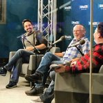 Town hall discussion today at Sirius XM in Manhattan today with Lin-Manuel Miranda! moderated by Justin McElroy! That was fun.   Tune in March 19th on Radio Margaritaville!  Thanks for the pictures Frank Marshall @ledoctor !