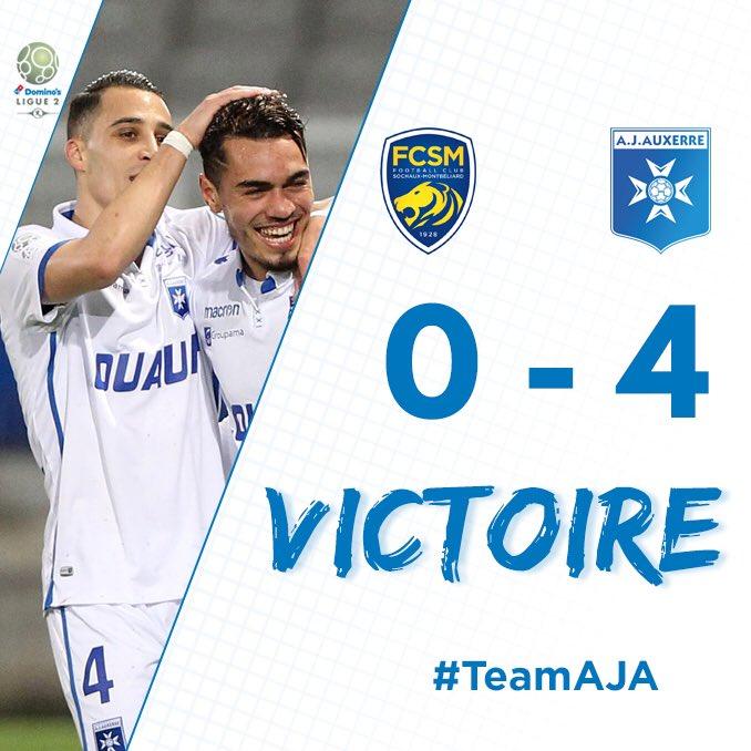 VICTOIRE !!!! Superbe victoire de l'AJA 4-0 sur la pelouse du @FCSM_officiel ! #FCSMAJA Ba Sakhi Barreto TacalfredBRAVO LES GARS ALLEZ L'AJA ! #TeamAJA   - FestivalFocus