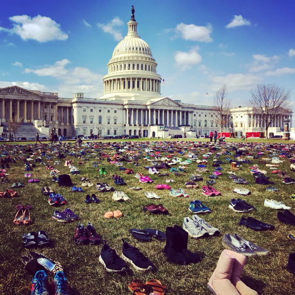 You see 7,000 pairs of shoes to represent 7,000 children killed due to gun violence since Sandy Hook. I see 7,000 birthdays, holidays, milestones, and achievements missed.  I see what these children could have been and what good they would have done.