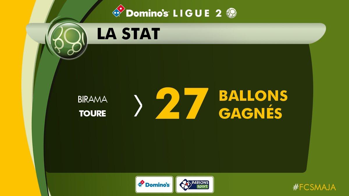 Match très solide de @BiramaToureOff qui est le joueur à avoir gagné le plus de ballons dans le match ! #FCSMAJA  - FestivalFocus