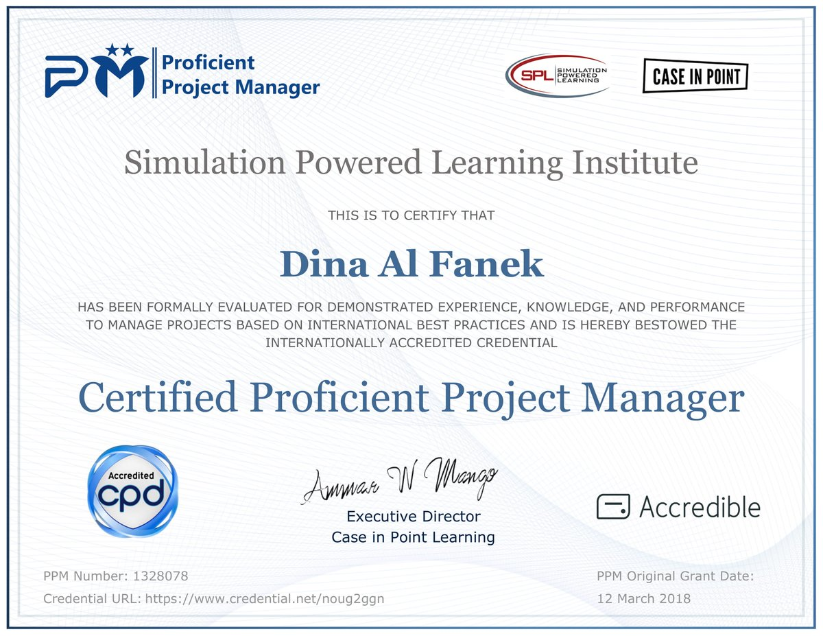 Ammar Mango On Twitter Congratulations Dina Al Fanek For Achieving