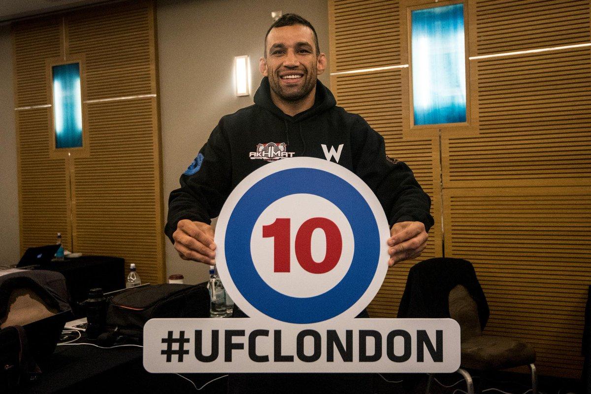 Fight week official. @FabricioWerdum   @TomFireKid   @FlashMMA   @Nasrat_MMA #UFCLondon