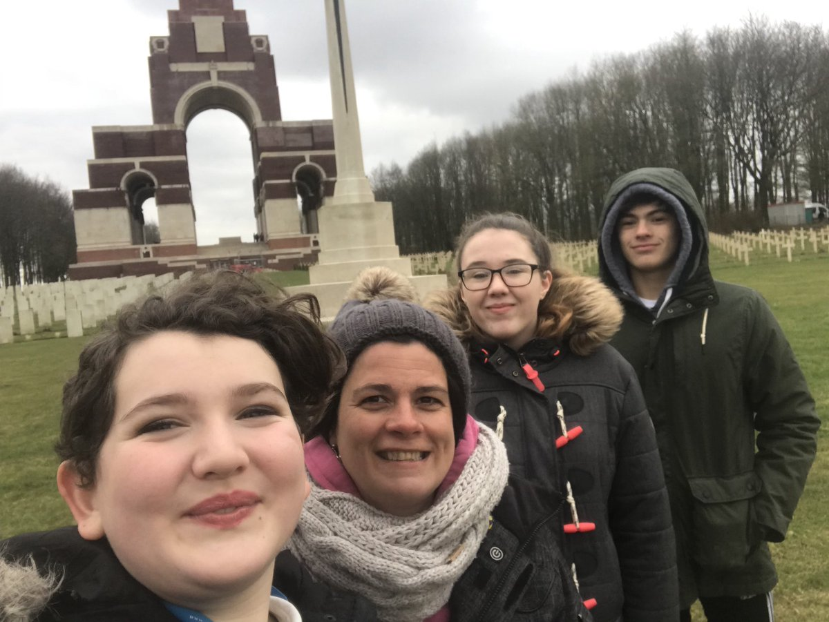 At Thiepval after a day at the Somme #LshsEnrichment