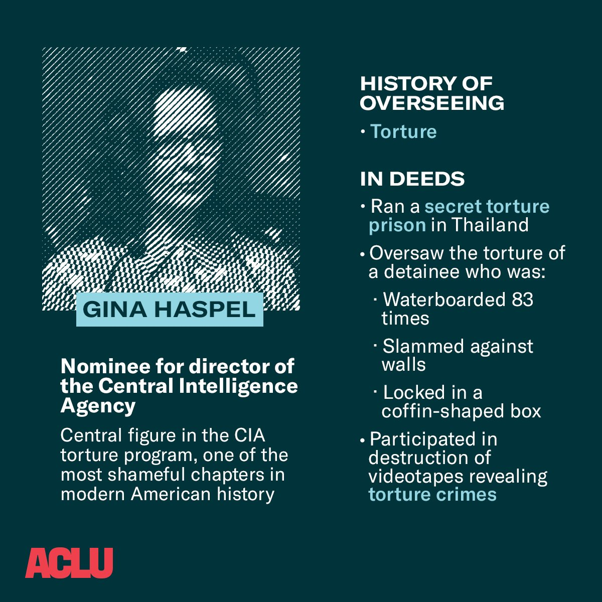 "ACLU on Twitter: ""Trump's nominee for director of the Central ..."