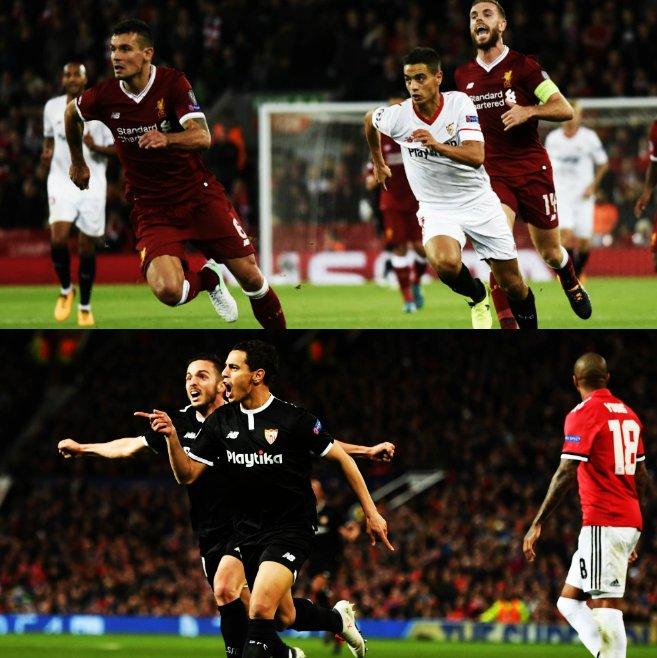 5 de los 8 goles de Wissam Ben Yedder en la presente UEFA Champions League han sido ante GIGANTES INGLESES: 3 goles al Liverpool y 2 goles al Manchester United.