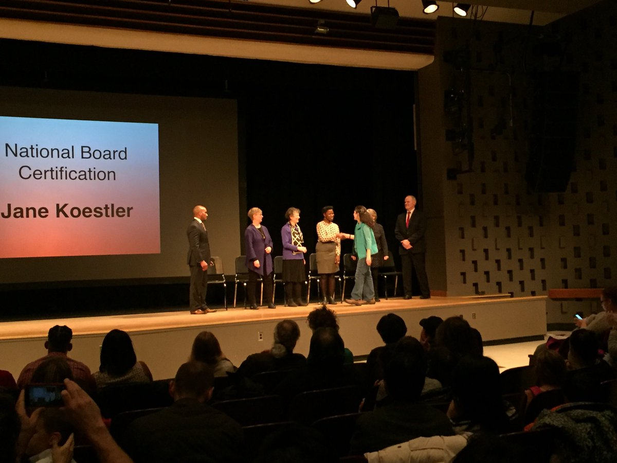 Congratulations to a fantastic South Hill Hawk - Jane Koestler! Only about 1% of teachers in NY state achieve National Board Certification, we are lucky to have her with us.