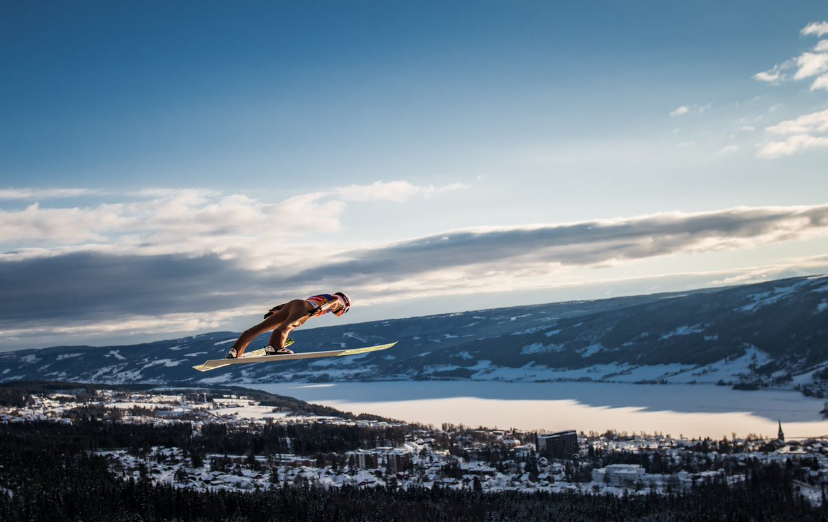 Kamil Stoch flying over Lillehammer is a...