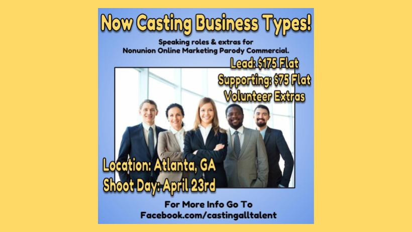 casting all talent on twitter now casting in atlanta atlwood