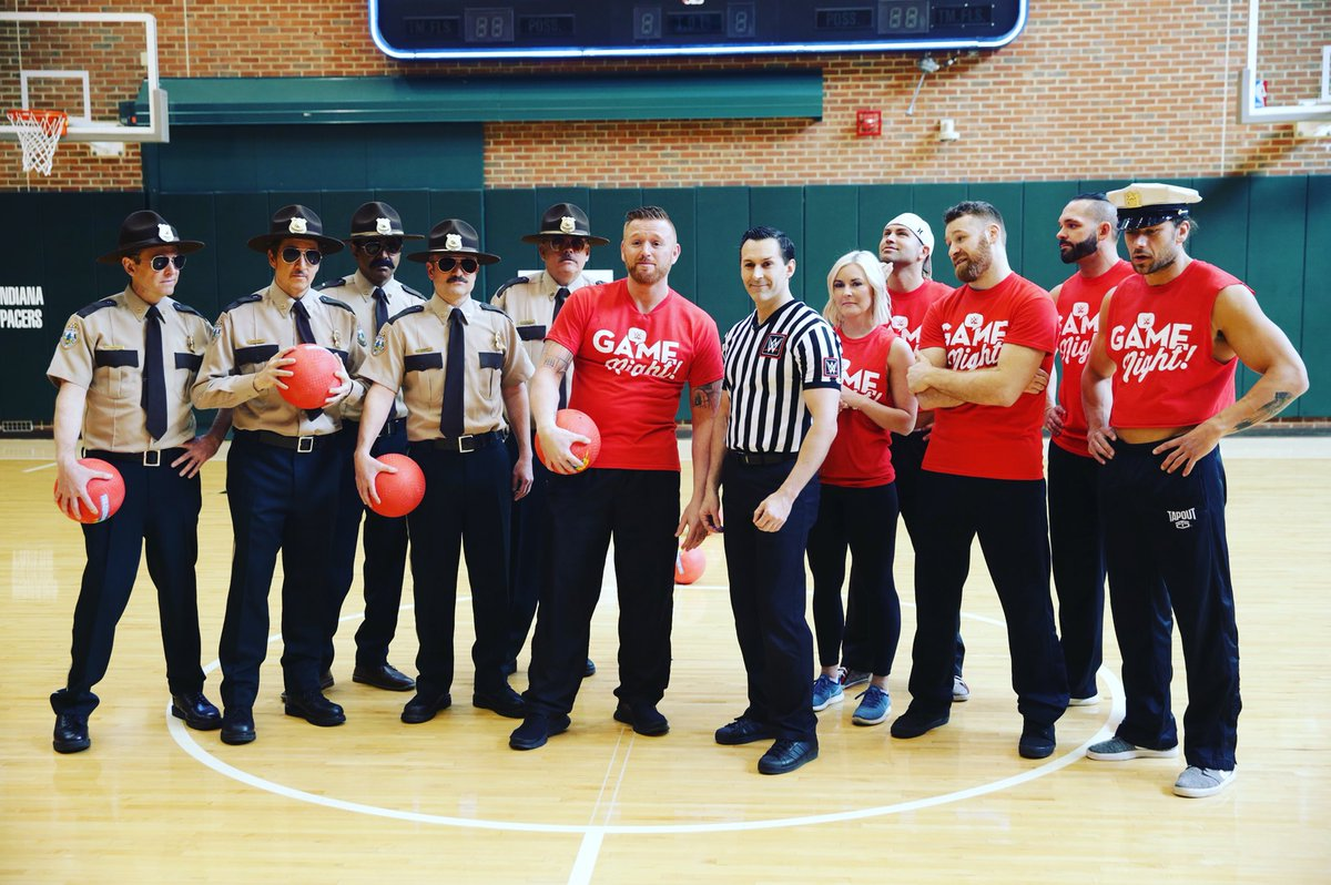 I believe in always following the law and rules of the land, but today, the law played by my rules! @SuperTroopers @WWE #WWEGameNight So Much Fun And it's Coming Soon!!!